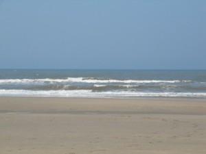 Naaktstrand gebied op het strand van Noordwijk